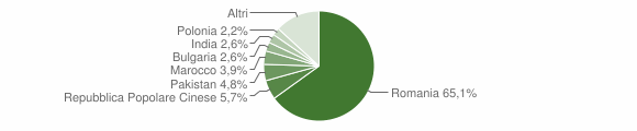 Grafico cittadinanza stranieri - Martano 2018