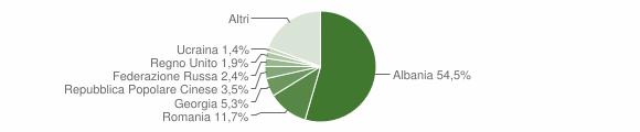 Grafico cittadinanza stranieri - Monopoli 2013