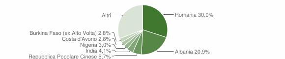 Grafico cittadinanza stranieri - Mesagne 2019