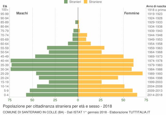 Grafico cittadini stranieri - Santeramo in Colle 2018