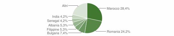 Grafico cittadinanza stranieri - Corsano 2019