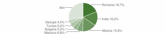 Grafico cittadinanza stranieri - Palo del Colle 2019