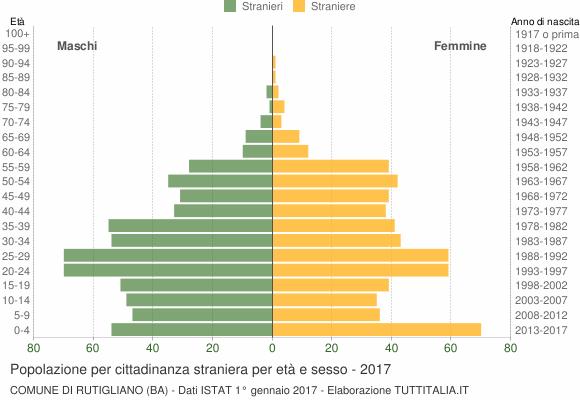 Grafico cittadini stranieri - Rutigliano 2017