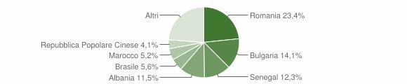 Grafico cittadinanza stranieri - Carmiano 2018