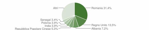 Grafico cittadinanza stranieri - Cutrofiano 2019