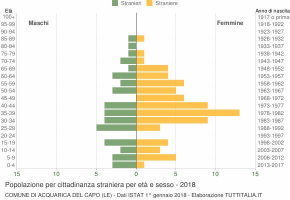 Grafico cittadini stranieri - Acquarica del Capo 2018