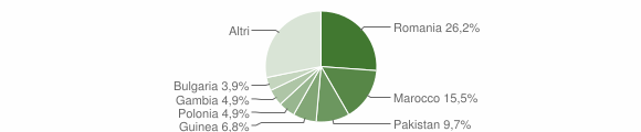Grafico cittadinanza stranieri - Sogliano Cavour 2019