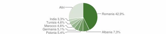 Grafico cittadinanza stranieri - Nardò 2014