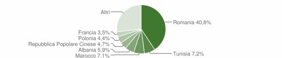 Grafico cittadinanza stranieri - Nardò 2018