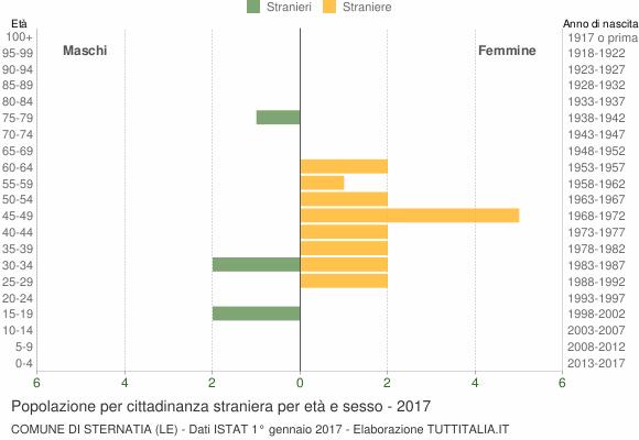 Grafico cittadini stranieri - Sternatia 2017