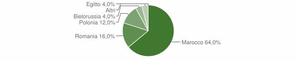 Grafico cittadinanza stranieri - San Cassiano 2011