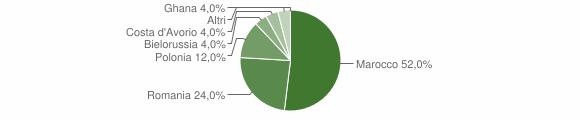 Grafico cittadinanza stranieri - San Cassiano 2016