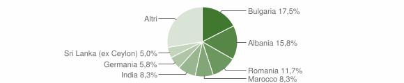 Grafico cittadinanza stranieri - Arnesano 2011