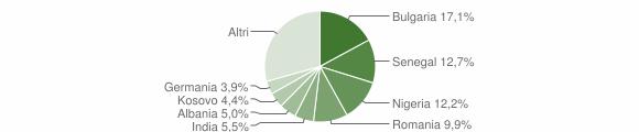 Grafico cittadinanza stranieri - Arnesano 2019
