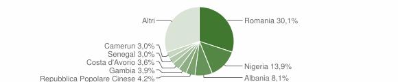 Grafico cittadinanza stranieri - San Pietro Vernotico 2019