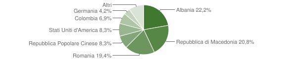 Grafico cittadinanza stranieri - Torchiarolo 2009