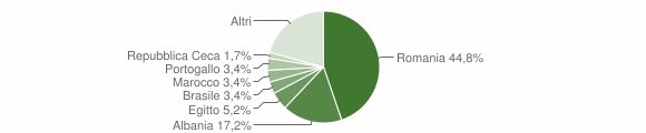 Grafico cittadinanza stranieri - Scorrano 2013
