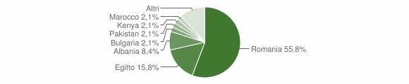 Grafico cittadinanza stranieri - Scorrano 2019