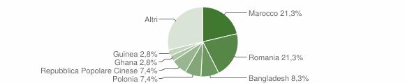 Grafico cittadinanza stranieri - Gagliano del Capo 2019