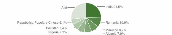 Grafico cittadinanza stranieri - Grumo Appula 2019