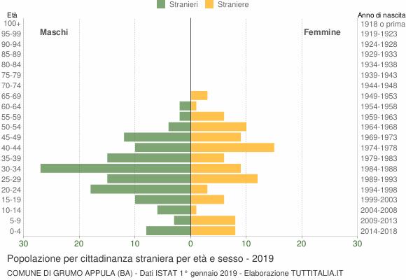 Grafico cittadini stranieri - Grumo Appula 2019