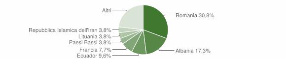 Grafico cittadinanza stranieri - Cellamare 2018