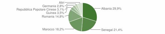 Grafico cittadinanza stranieri - Leverano 2009
