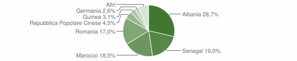 Grafico cittadinanza stranieri - Leverano 2010