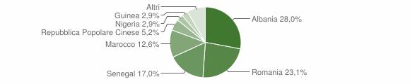 Grafico cittadinanza stranieri - Leverano 2013
