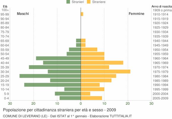 Grafico cittadini stranieri - Leverano 2009