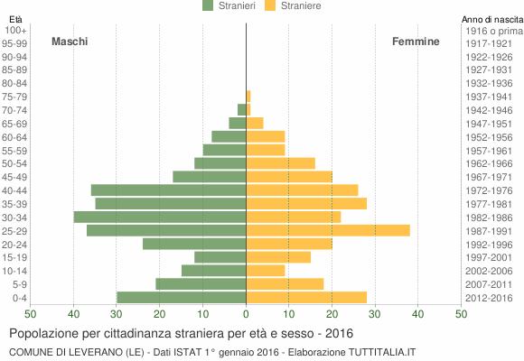 Grafico cittadini stranieri - Leverano 2016