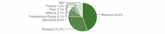 Grafico cittadinanza stranieri - San Donaci 2013