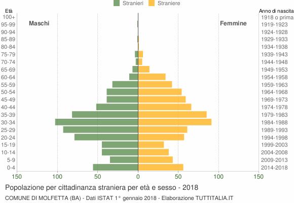 Grafico cittadini stranieri - Molfetta 2018
