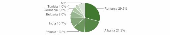 Grafico cittadinanza stranieri - Alezio 2014