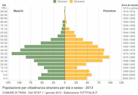 Grafico cittadini stranieri - Trani 2013