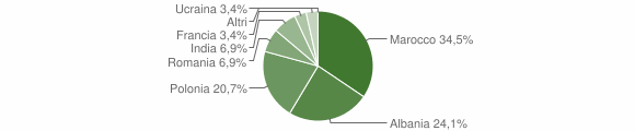 Grafico cittadinanza stranieri - Zollino 2009