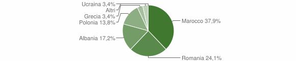 Grafico cittadinanza stranieri - Zollino 2011