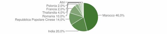 Grafico cittadinanza stranieri - Guagnano 2010