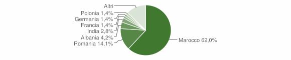 Grafico cittadinanza stranieri - Guagnano 2014