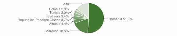 Grafico cittadinanza stranieri - Matino 2019
