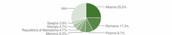 Grafico cittadinanza stranieri - Sammichele di Bari 2019