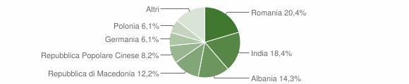 Grafico cittadinanza stranieri - Vernole 2009