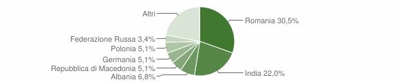 Grafico cittadinanza stranieri - Vernole 2011