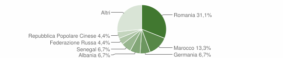 Grafico cittadinanza stranieri - Domusnovas 2017