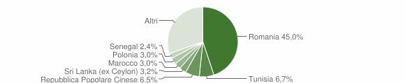Grafico cittadinanza stranieri - Carini 2019