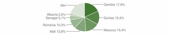 Grafico cittadinanza stranieri - Campofiorito 2018