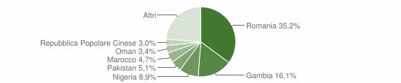 Grafico cittadinanza stranieri - Borgetto 2019