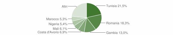 Grafico cittadinanza stranieri - Salemi 2018