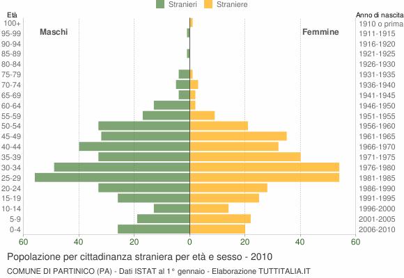 Grafico cittadini stranieri - Partinico 2010