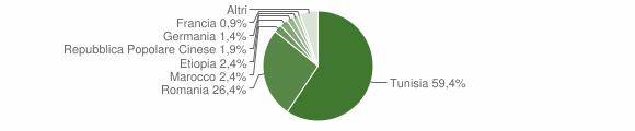 Grafico cittadinanza stranieri - Petrosino 2010